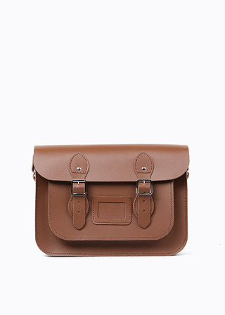 "[LEATHER SATCHEL] No.B#LS1501LEATHER SATCHEL 15"" (brown)"