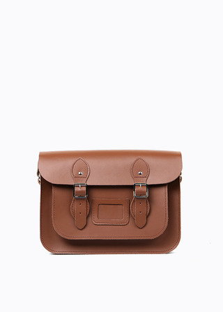 "[LEATHER SATCHEL] No.B#LS1301LEATHER SATCHEL 13"" (brown)"