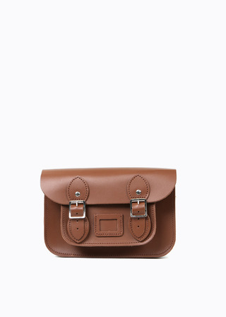 "[LEATHER SATCHEL] No.B#LS0801LEATHER SATCHEL 8.5"" (brown)"