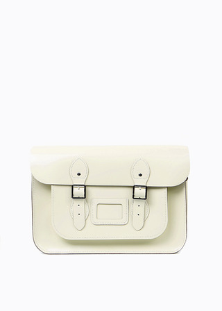 "[LEATHER SATCHEL] No.B#LS1501LEATHER SATCHEL 15"" (IVORY)"