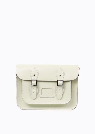 "[LEATHER SATCHEL] No.B#LS1301LEATHER SATCHEL 13"" (IVORY)"