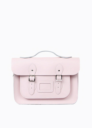 "[LEATHER SATCHEL] No.B#LS1502LEATHER SATCHEL 15"" (BABYPINK/strap)"