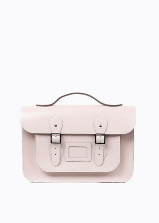 "[LEATHER SATCHEL] No.B#LS1503LEATHER SATCHEL 15"" (PINK/3way)"