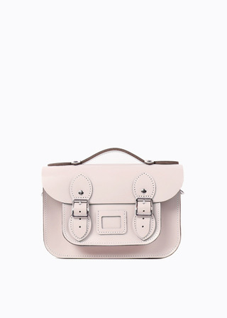 "[LEATHER SATCHEL] No.B#LS0802LEATHER SATCHEL 8.5"" (PINK/strap)"